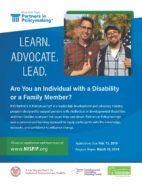 Partners in Policy Making - New York State Partners in Policymaking is an online training course in disability advocacy, funded by the NYDDPC, and it is free to people with developmental disabilities and their family members.
