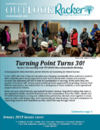 Racker - Spring Outlook - Spring Quarterly - Spring 2019 - Turning Point Turns 30! - Racker's Partnership with TST BOCES - Equine Therapy - From the Ground Up Horse Farm - Holiday Baskets - Autism Lending Library - Playing it Forward - Food Day