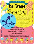 Racker - Free Ice Cream Social - Stewart Park - Ithaca Physics Bus