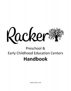 Racker - Preschool and Early Childhood Education Centers Handbook
